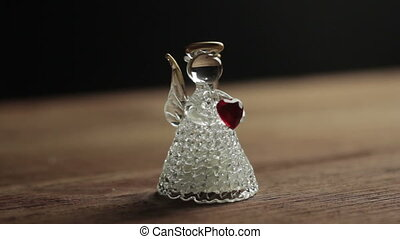 decorative Glass angel Christmas with heart - decorative...