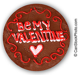 Valentine cake - Valentines day chocolate cake. Be my...
