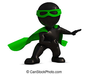 3D Morph Man super hero - 3D Render of Morph Man super hero