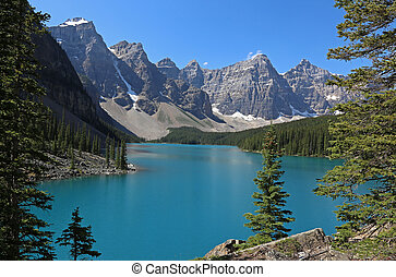 Framed Lake Moraine - Spectacular Lake Moraine, located in...
