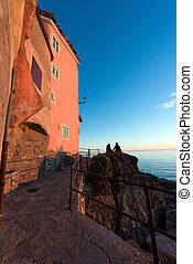 Sunset in Tellaro - Liguria Italy - Sunset in the small...