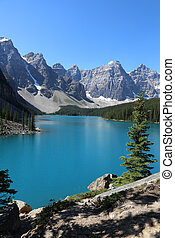 Lake Moraine in Banff - Spectacular Lake Moraine, located in...