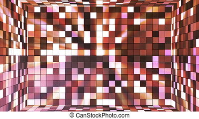 Broadcast Twinkling Hi-Tech Squares Room, Brown, Abstract,...