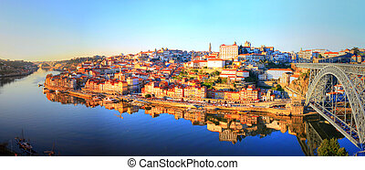 Portugal - Porto - beautiful view of the Ribeira in the...