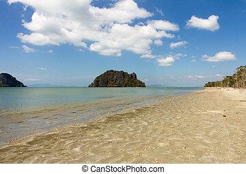 Hua HIn beach, Trang - Hua Hin beach, Trang Province,...