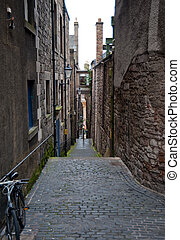 Edinburgh alley - Alleyway between buildings in Edinburgh...