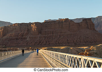View on the Navajo bridge in Arizona USA