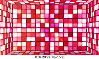 Broadcast Twinkling Hi-Tech Cubes Room, Red, Abstract,...