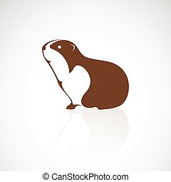 Vector image of an guinea design on white background
