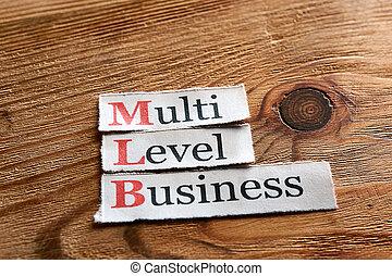MLB-, multi, nivel, empresa / negocio,