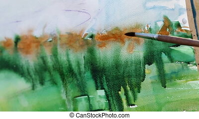 watercolor painting close-up - a watercolor painting...