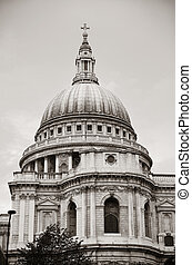St Pauls Cathedral closeup in London