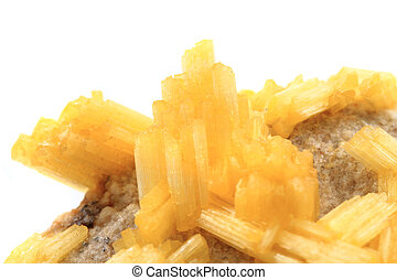 synthetic alunite mineral isolated on the white background