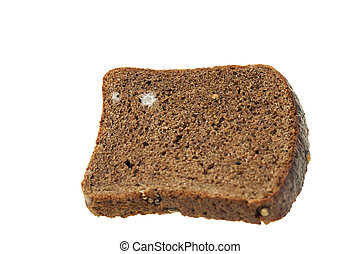 bread mold close-up - photographed close-up of black bread,...