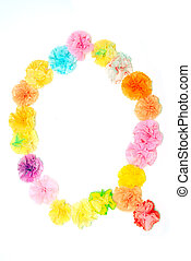 """""""Q"""" Alphabet flowers made from paper craftwork - Colorful..."""