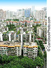 Residential areas in Guangzhou, China