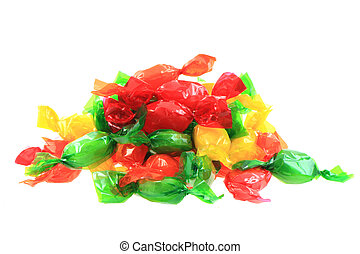 color bonbon isolated on the white background