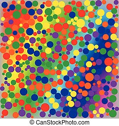 Bright rainbow dotted abstract background Vector...