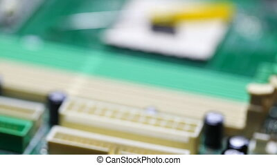 repair, computer circuit board closeup