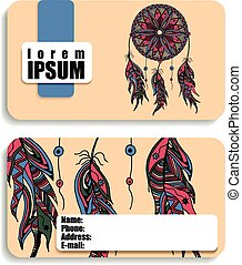 business banner, card with the image of a Dreamcatcher