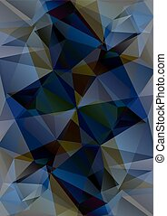 dark blue background - Polygonal abstract background with...