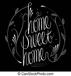 home sweet home calligraphy design - attractive home sweet...