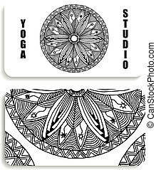 yoga Studio card with the image of a mandala