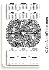 monochromevertical yoga calendar