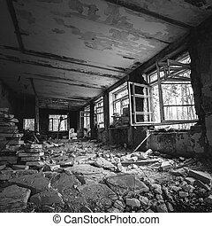 Abandoned Building Interior Old forsaken house - Abandoned...