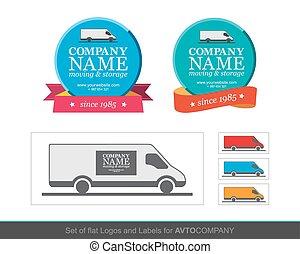 Template of identity for Avto Company.