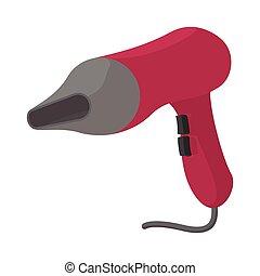 Pink hairdryer cartoon icon