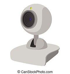 Computer web cam cartoon icon