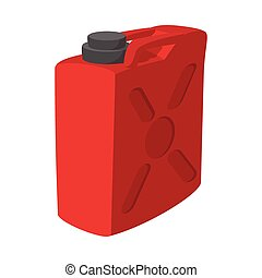 Fuel container jerrycan cartoon icon. Gasoline canister...