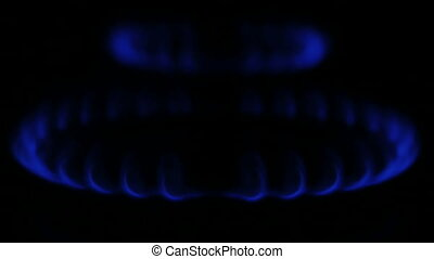 Blue natural Gas Flame,