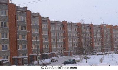 Socialist era apartment block in Europe.
