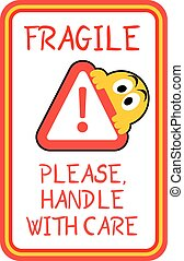 fragile advise sticker - Creative design of fragile advise...