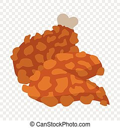 Chicken legs in cartoon style on transparent background