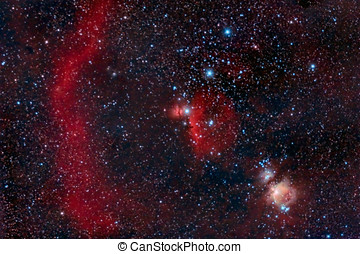 Orion Belt captured with an amateur telescope