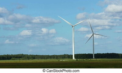 Wind Turbines in the fields