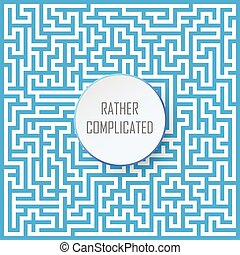 labyrinth and label - hard and complicated way conceptual...
