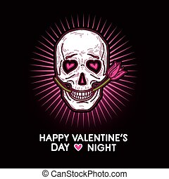 Humorous gloomy and grim postcard for Valentine's Day and...