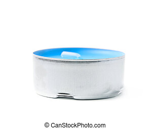 Tealight paraffin wax candle isolated - Single tealight...
