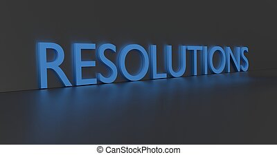 Resolutions Word - Resolutions concept word - blue text on...