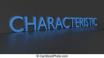 Characteristic Word - Characteristic concept word - blue...