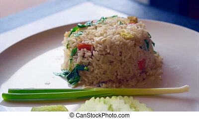 Thai food cuisine fried rice - Thai food fried rice with...
