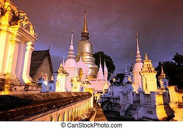 ASIA THAILAND CHIANG MAI WAT SUAN DOK - the Wat Suan Dok...