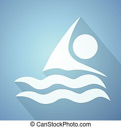 imaginative swim icon - Creative design of imaginative swim...