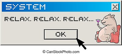 relax message - Creative design of relax message