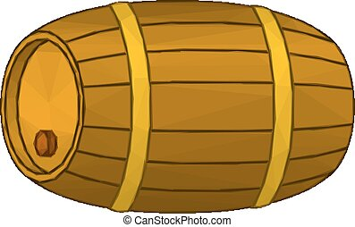 Wine Wooden Barrel - Traditional Wine Wooden Barrel with a...