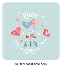Happy Valentines Day Greeting Card with typography, heart....